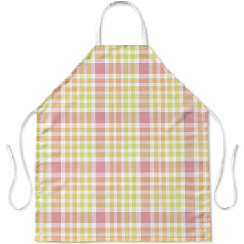 CHRISTMAS BABY STOCKING PLAID Apron By Northern Whimsy