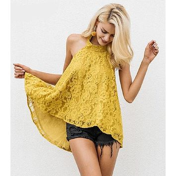 MacKenzie Floral Lace Camisole Top