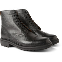 Grenson - Joseph Country-Grain Leather Boots | MR PORTER