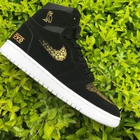 Air Jordan 1 Retro High OVO Black Gold AJ1 Sneakers - Best Deal Online