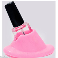 DL #DL-C217 RUBBER TABLE TOP SALON  MANICURE NAIL POLISH BOTTLE HOLDER