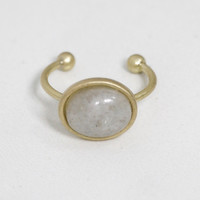 Cloudy Dreams Gold Ring With Natural Stone