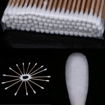 200Pcs/Pack Double Head Disposable Cotton Swabs Sticks One-Off Soft Makeup Removal Applicator Swabs Ears Cleaning Sticks Tool