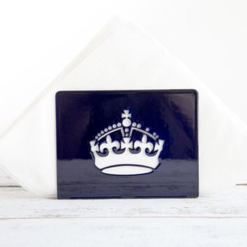 UK CROWN Napkin holder