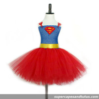 Superman Inspired Tutu Dress