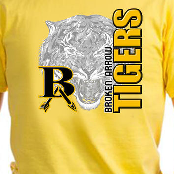Broken Arrow Tigers Vertical T-Shirt