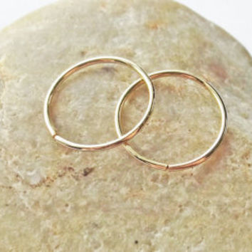 14K Gold Filled Seamless Sleeper Hoops by KarynHaydenDesigns
