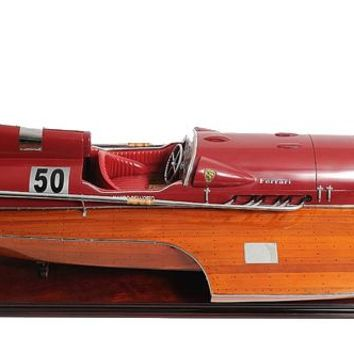 FERRARI HYDROPLANE READY FOR RC Hancrafted Speed Boats Models