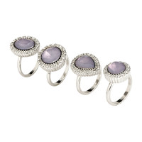 H&M - 4-pack Rings - Silver - Ladies