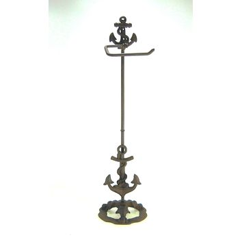 Nautical Anchor Toilet Paper Holder Stand Portable Marine Navy Fisherman gift
