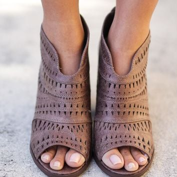 Groove Thang Taupe Booties