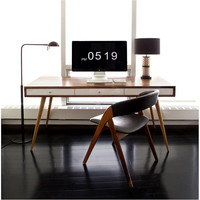 Jeremiah Collection Mid Century Desk With Cord Management