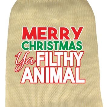 Ya Filthy Animal Screen Print Knit Pet Sweater Cream Xxl (18)