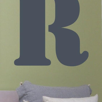 Single Block Letter Wall Decal