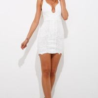 Give And Take Dress White