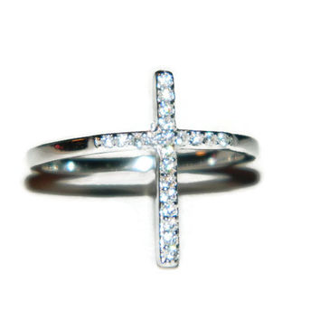 Cross Ring, Purity Ring, Sterling Silver