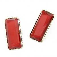 *Free Shipping* Red Momoko Sexy Square Earring @ SP48338r from efoxcity