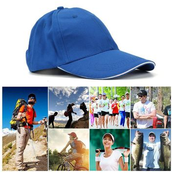 Men Caps Women Summer Hat Baseball Cap Plain Solid Sport Visor Sun Golf Ball Hat