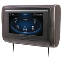 "Power Acoustik 9"" Lcd Universal Headrest With Ir & Fm Transmitters & 3 Interchangeable Skins (monitor Only)"