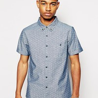 Another Influence Shirt In Polka Dot - Blue