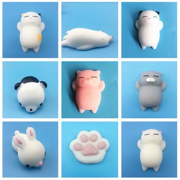Funny Mini Squishy Toy Kids Birthday Party Favor Cute Animal Antistress Ball Squeeze Soft Sticky Squishi Stress Relief Toys Gift