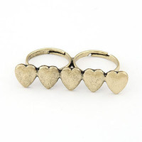 Frassy Rags — Double Heart Ring