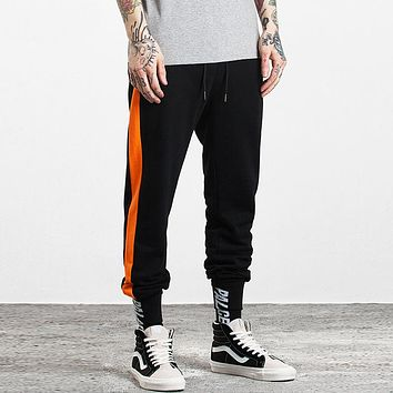Ankle Track Pants Vintage Contrast Striped Skinny Pencil Jogger Sweatpants 2017 High Quality Casual Elastic Waist Trousers