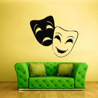 Wall Decals Decor Art Mural Sticker Mask Face Theatre Bedroom Design (z1884)