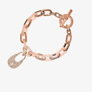 Padlock Rose Gold-Tone Toggle Bracelet | Michael Kors