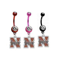 Nebraska Huskers PREMIUM Red Pink or Black by SportsBodyJewelry