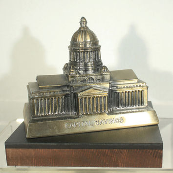 Coin Bank, Promotion Bank, Piggy Bank, Capital Savings, Penny Bank, Capital Building, Banthrico, With Key