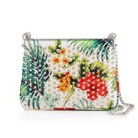 Triloubi Small Chain Bag White/Silver Calfskin