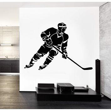 Wall Decal Sport Hockey Winter Sport Vinyl Sticker Unique Gift z3240