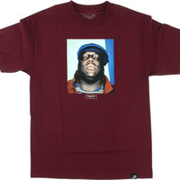 Primitive Biggie Notorious T-Shirt S Burgundy