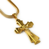 Jewelry Shiny Stylish New Arrival Gift Cross Rack Pendant Hip-hop Accessory Necklace [10529027523]