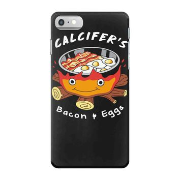 calcifer's bacon and eggs iPhone 7 Case