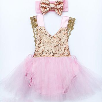 Flower Girl Princess Dress Kid Baby Party Wedding Pageant Lace Bodysuit Dresses Girls Clothes Birthday Gifts Costume