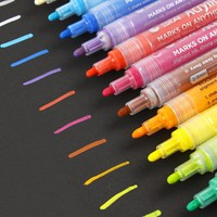 STA 12/24Colors Acrylic Tag pens copic marker Cartoon Graffiti Art designers School Drawing Sketch Marker Pen Art markers