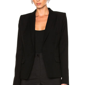 Alexandre Vauthier Double Breasted Blazer in Black | FWRD