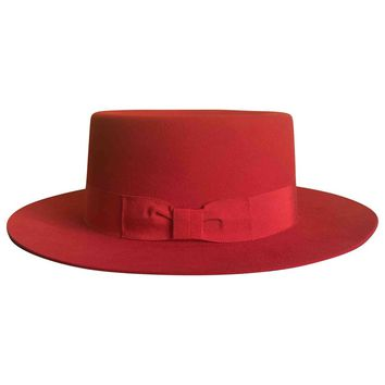 Rabbit hat SAINT LAURENT Red