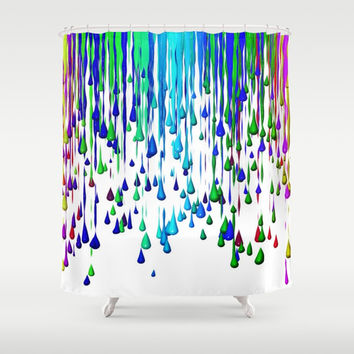 Crayons Shower Curtain by Jessica Ivy