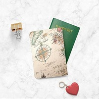 Go And See All You Possibly Can Passport Holder - Leather Passport Cover - Travel Accessory- Travel Wallet for Women and Men_Matrioshka