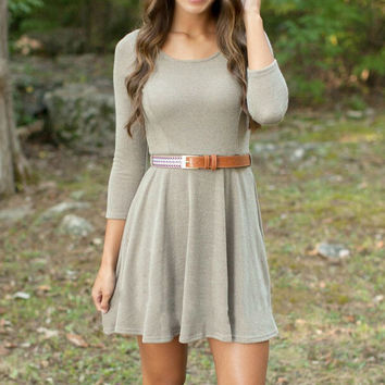 FASHION LONG SLEEVE TIGHT DRESS