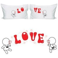 """BOLDLOFT """"My Love is Yours"""" Lesbian Couple Pillowcases-Lesbian Gifts,Valentines Gifts for Lesbians,Lesbian Pride Gifts"""