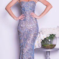 PHOENE GOWN IN BLUE JEAN