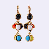 Fashion Dangle Earring Long Drop Earring Bridal Drop Earring Gemstone Earrings Women Party Earrings Wholesale Earring Jewelry