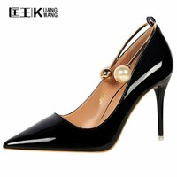 2017 Sexy High Heels Shoes Women High Heel Pumps Spring Women Shoes Pointed Toe Wedding Shoes Women Pumps Chaussure Escarpins