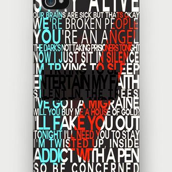 Twenty One Pilots Lyrics iPhone Case | CrewWear
