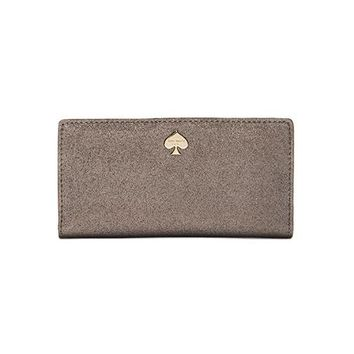 kate spade new york Stacy Clutch in Metallic Silver