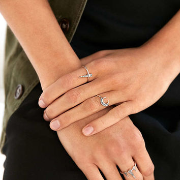 Luv Aj Crescent Spike Ring Pack - Urban Outfitters